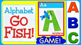 GO FISH ABC Game For Kids, Babies, Toddlers Alphabet ABCDEFGHIJKLMNOPQRSTUVWXYZ