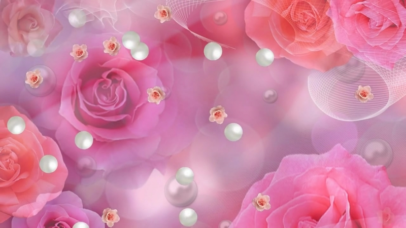 Футаж Розы и жемчуг… Как нежен их цвет HD.mp4