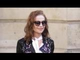 Isabelle Huppert @ Paris 3 juillet 2018 Fashion Week show Armani
