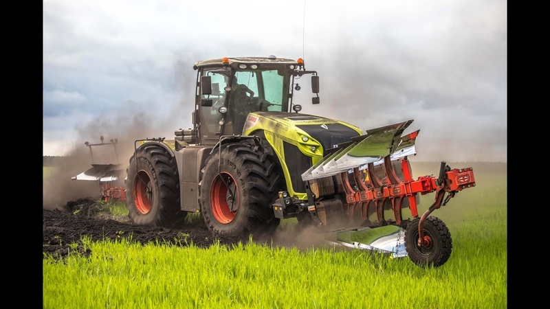 XXL PLOUGHING in EUROPE with CLAAS XERION 5000 and GREGOIRE BESSON 16 furrow