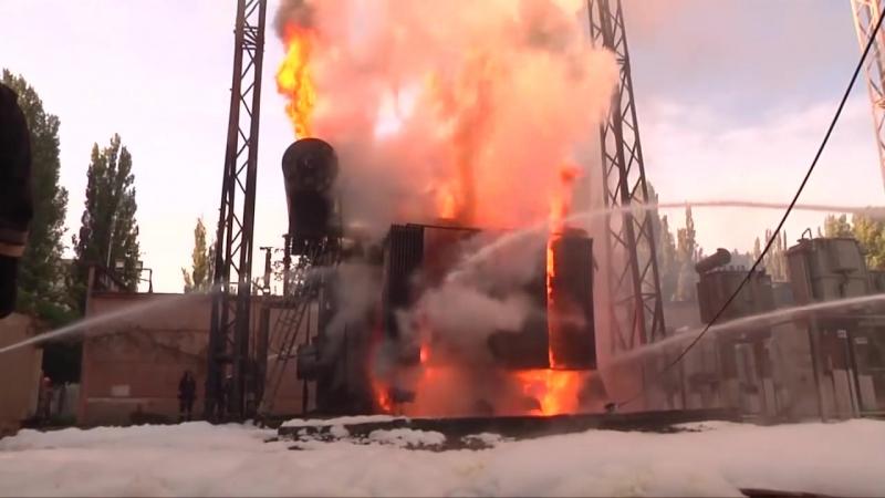 г.Одесса. Спасатели ликвидировали пожар на электроподстанции