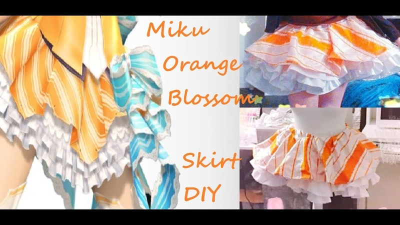 Miku Orange Blossom Cosplay DIY Jupon et jupe