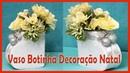 Vaso Botinha para decoração de Natal Ideias e Decorações