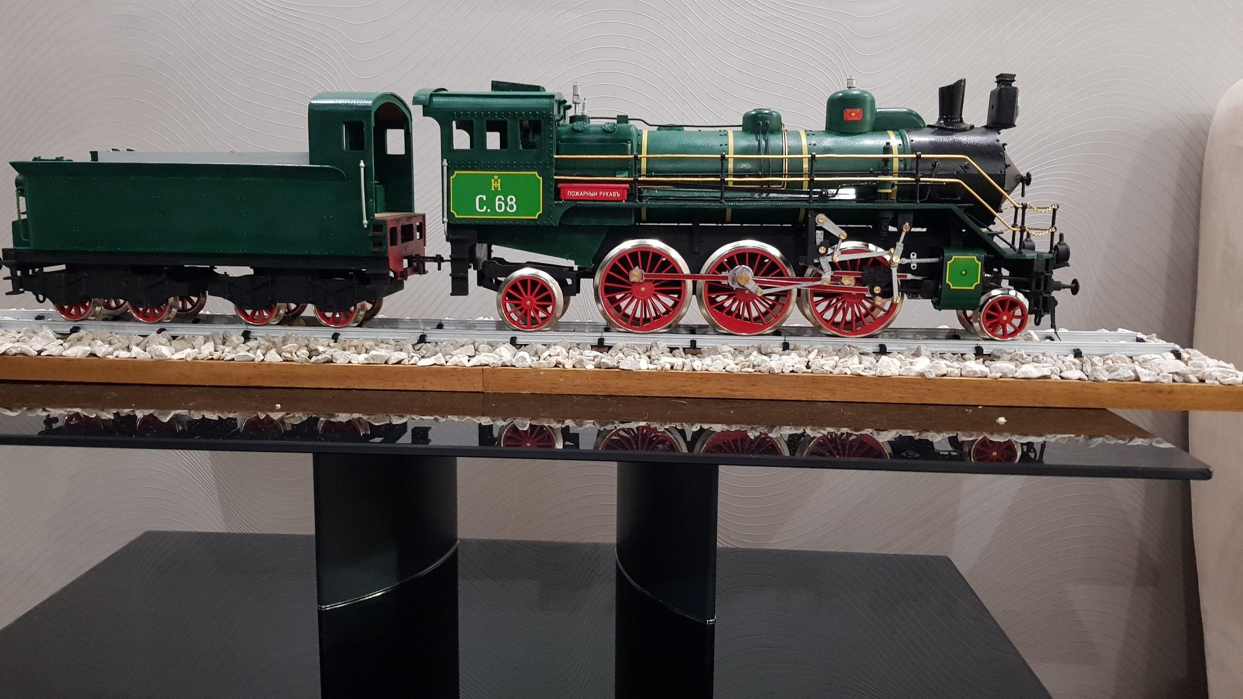 Модель паровоза С-68 масштаб 1:32 QAbVlMb7r3w