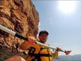 На каяке в море. Балаклава, Крым