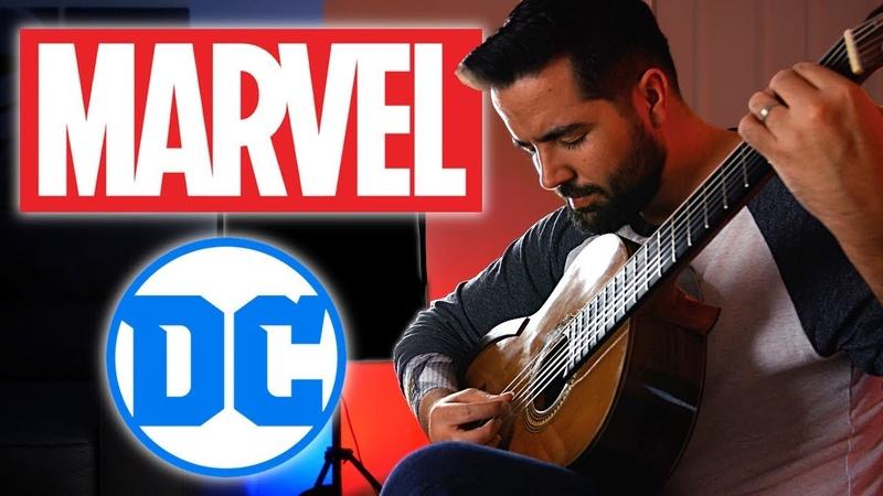 MARVEL vs DC Classical Guitar Medley Mashup (Beyond The Guitar)