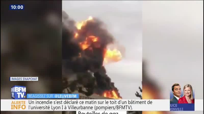 Les premières images des explosions et de lincendie sur le campus de lUniversi...
