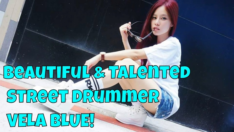 Amazing Beautiful Street Drummer from Taiwan Vela Blue (alais Chen Manqing) Turns heads!