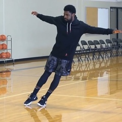 """Micah Lancaster on Instagram: """"The Kyrie 5 Black Magic's are real and so have been the comments....as for me, I'm just a witness 😉"""""""
