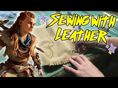 Sewing with Leather [Aloy from Horizon Zero Dawn]