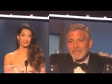 Amal Clooney Gushes In AFI Speech About Early Romance With George Clooney