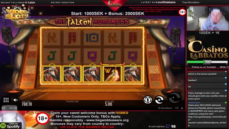 BIG WIN! Hello Ladies! -Falcon huntress- 0.50€ bet (2)