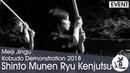 Shinto Munen Ryu Kenjutsu - Ogawa Takeshi - Meiji Jingu Kobudo Demonstration 2018