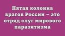 Пятая колонна врагов России это отряд слуг мирового паразитизма
