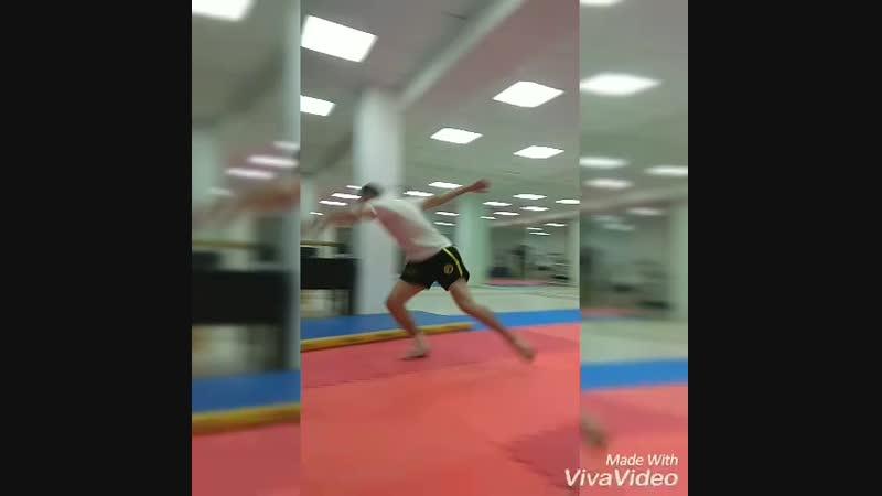 Акробатика в школе кунг-фу Скорпион