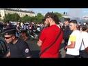 Mondial 2018. L'Arc de Triomphe envahit par les supporters des bleus. Paris/France - 06 Juillet 2018