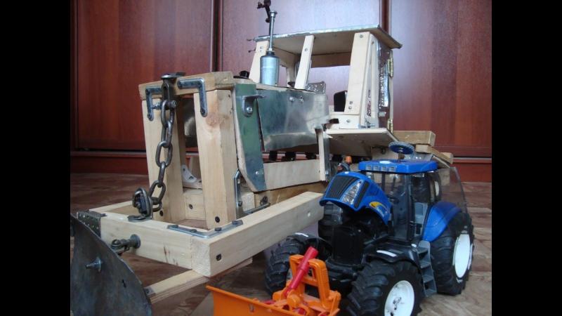 Сравнение тракторов Т 150 к и (Bruder) New Holland.Или обзор Т 150 к (2)