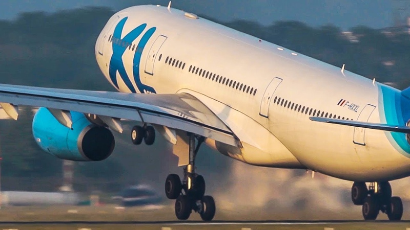 FAST AIRBUS A330 DEPARTURE and A330 LANDING BLUE MOON 4K