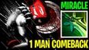 1 Man Comeback Game - Miracle- Bloodseeker - Dota 2