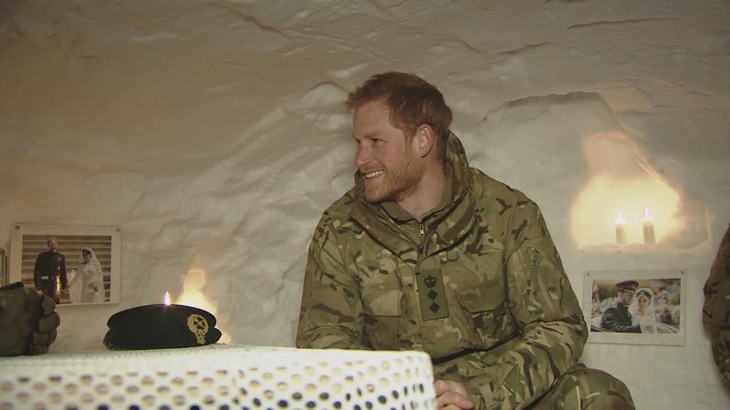 Harry shown into igloo 'shrine' of him and Meghan on trip to Arctic