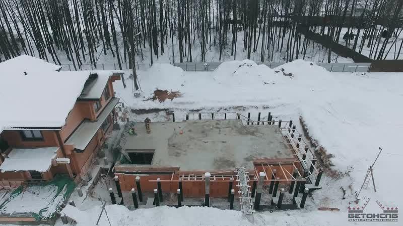 Строительство бетонной поверхности плиты перекрытия