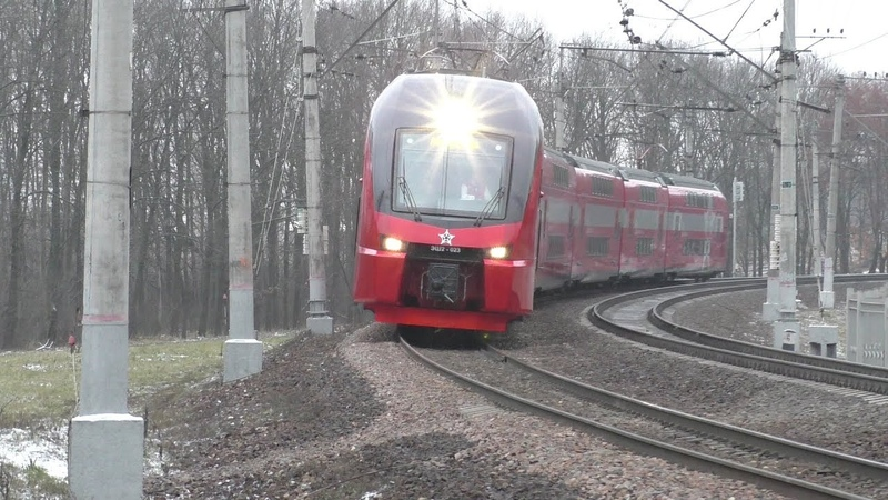 Электропоезд ЭШ2-023 перегон Внуково - Солнечная