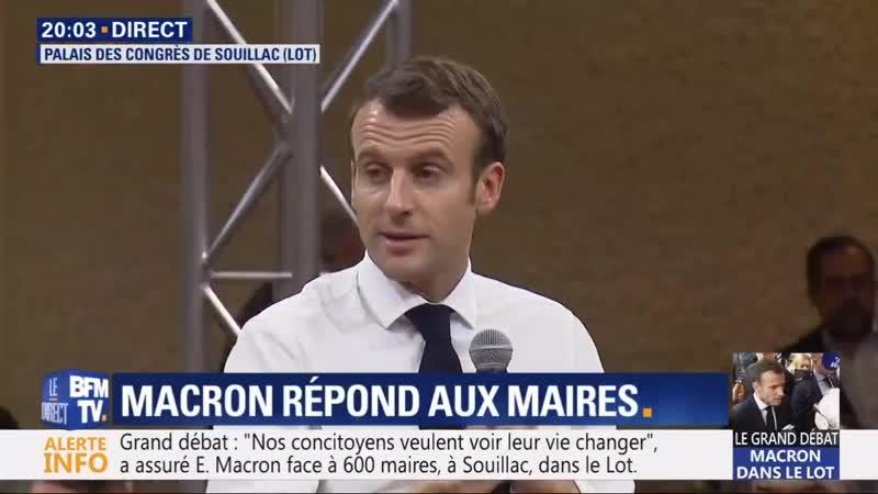 Macron plaide pour louverture des frontières tout en barricadant les villes où il fait ses shows. Très cohérent!