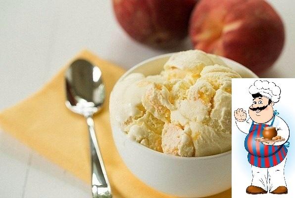 Мороженое из творога с персиком - нежное удовольствие!