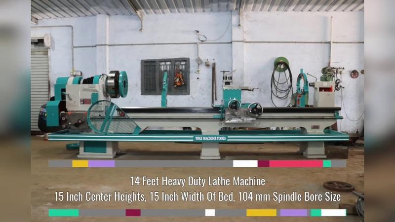 14 Feet Heavy Duty Lathe Machine | YOGI MACHINE TOOLS Lathe Machine Manufacturing in Rajkot