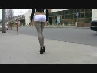 Сексуальная девушка в серых колготках / Women in pantyhose (sweet_feet, no porn)