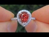 RARE VVS 3.90 Carat Padparadscha Sapphire Diamond Engagement Ring PLATINUM