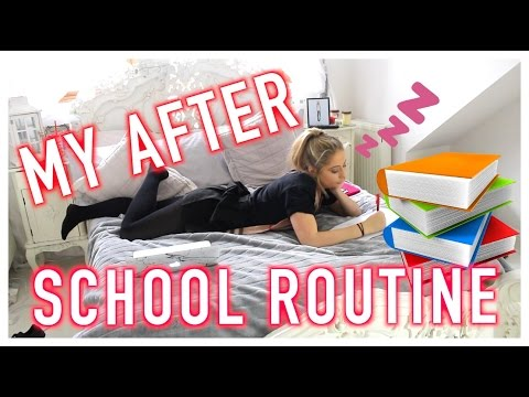 MY AFTER SCHOOL ROUTINE
