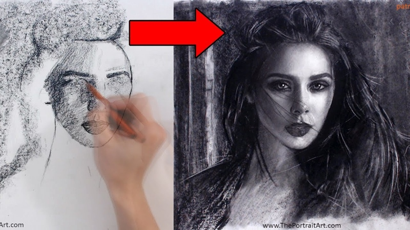 Do you draw in this chaotic way! - Scarlet Witch Portrait Video