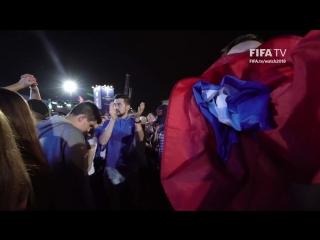 Россия - Хорватия. Реакция Фестиваля болельщиков FIFA в Самаре на голы