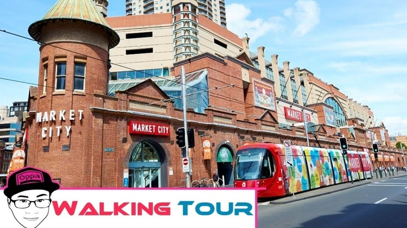 Walking Best Placces in Sydney Around Chinatown Market City and Paddys Market on Weekend