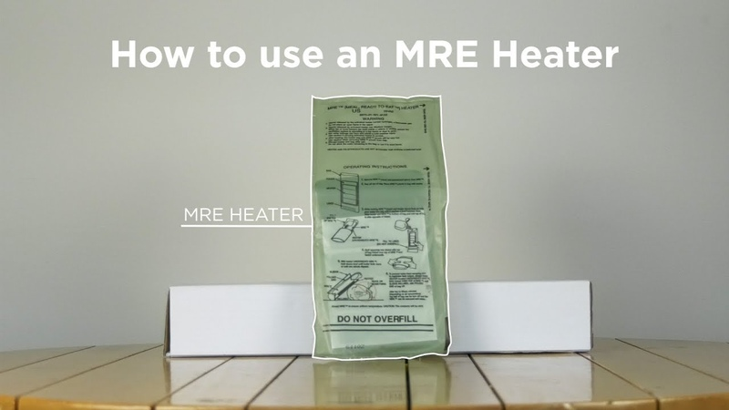 How to Use An MRE Heater