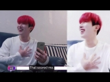 wonho accidentally zoomed the video on his face and his shocked reaction is the cutest .mp4