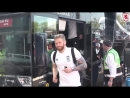 Boro players arrive at the Pride Park for the league game against Derby County