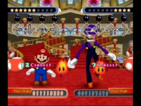 Dance Dance Revolution Mario Mix Story Mode - Waluigi Battle (Normal)