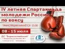 4-ая летняя Спартакиада молодёжи России 2018 соревнования по боксу. День 2