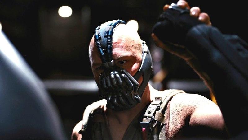 Бэтмен против Бэйна. Битва в подземелье. Темный рыцарь: Возрождение легенды. 2012.