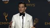 Rami Malek Emmys 2016 Full Backstage Speech