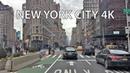 Driving Downtown New York City 4K USA