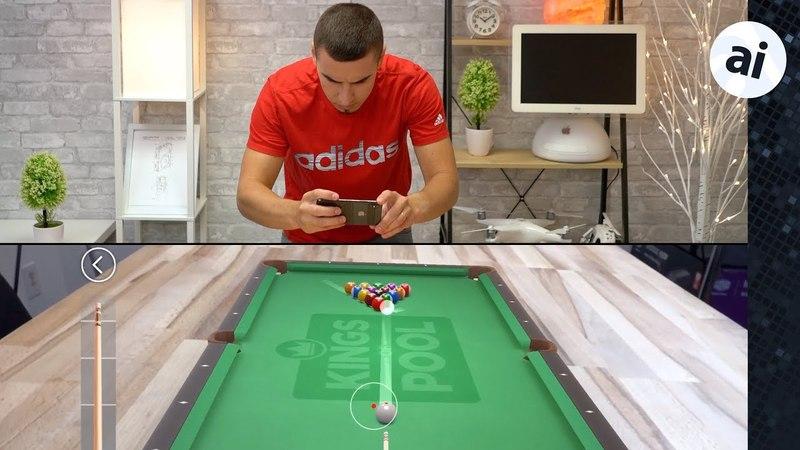 IPhone X vs Galaxy S9 AR Gaming - ARKit vs ARCore