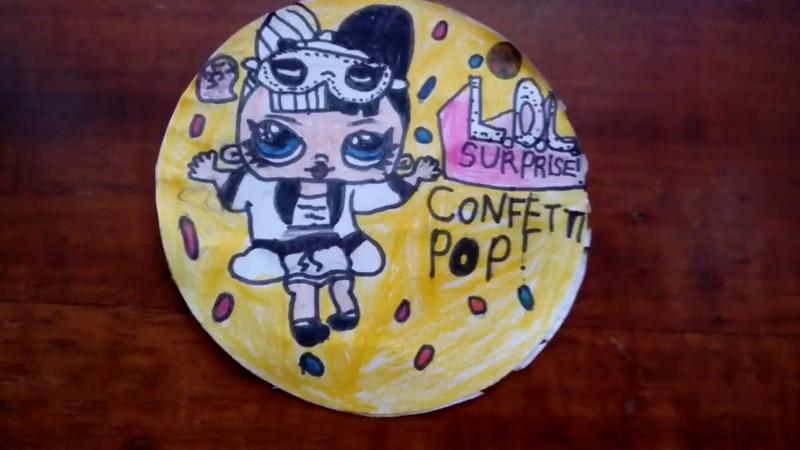 Распаковка шарика ЛОЛ confetti POP (fake lol)
