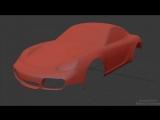 3D Modeling Timelapse - Porsche Cayman 2007