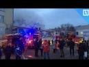 Торговый центр полыхает в Ангарске