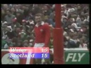 Longest rugby penalty kick ever from 1986