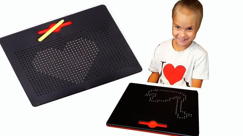 ПОЛЕЗНЯШКИ на МК Светланы Масляковой Развивающая игра Магнитный планшет для рисования и графических диктантов