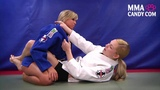 Collar Choke from guard - Girl Fight- MMA Candy